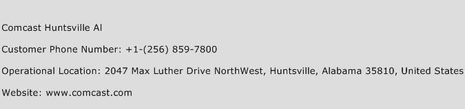 Comcast Huntsville Al Phone Number Customer Service