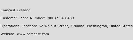 Comcast Kirkland Phone Number Customer Service