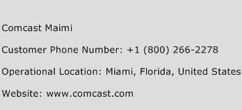Comcast Maimi Phone Number Customer Service