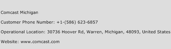 Comcast Michigan Phone Number Customer Service
