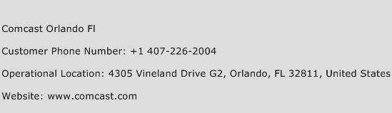 Comcast Orlando Fl Phone Number Customer Service