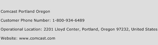 Comcast Portland Oregon Phone Number Customer Service