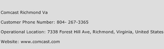 Comcast Richmond Va Phone Number Customer Service