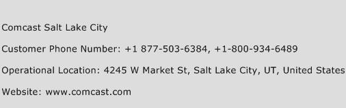 Comcast Salt Lake City Phone Number Customer Service