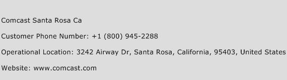Comcast Santa Rosa Ca Phone Number Customer Service