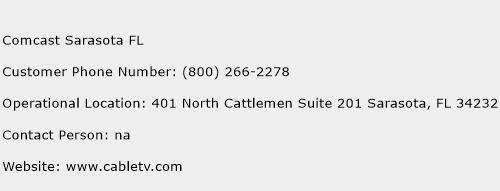 Comcast Sarasota FL Phone Number Customer Service