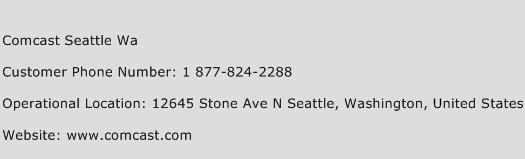 Comcast Seattle Wa Phone Number Customer Service