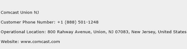 Comcast Union NJ Phone Number Customer Service