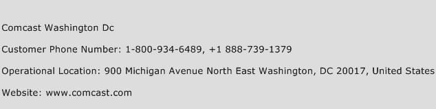 Comcast Washington Dc Customer Service Phone Number | Contact ...