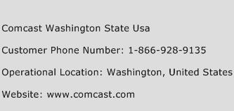 Comcast Washington State USA Phone Number Customer Service