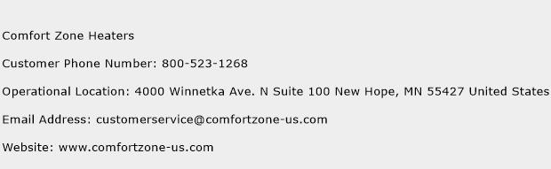 Comfort Zone Heaters Phone Number Customer Service