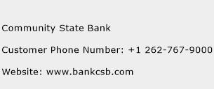Community State Bank Phone Number Customer Service