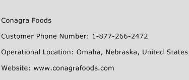 Conagra Foods Phone Number Customer Service