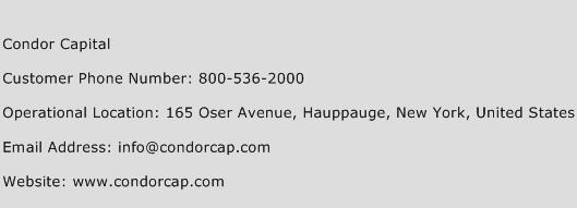 Condor Capital Phone Number Customer Service
