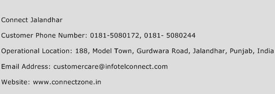 Connect Jalandhar Phone Number Customer Service