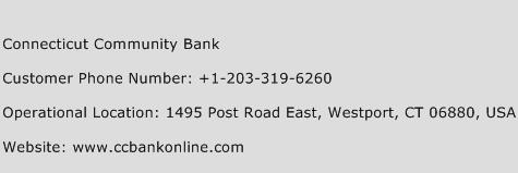 Connecticut Community Bank Phone Number Customer Service