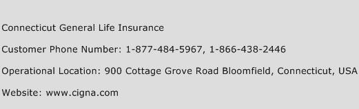 Connecticut General Life Insurance Phone Number Customer Service