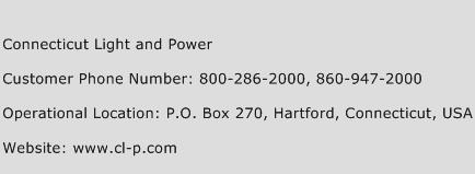 Connecticut Light and Power Phone Number Customer Service