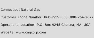 Connecticut Natural Gas Phone Number Customer Service