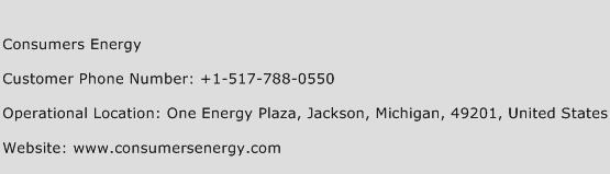 Consumers Energy Phone Number Customer Service