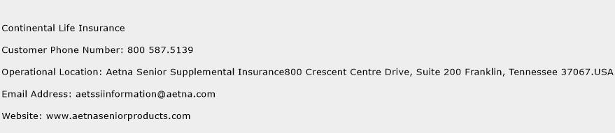 Continental Life Insurance Phone Number Customer Service