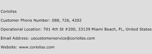 Corioliss Phone Number Customer Service
