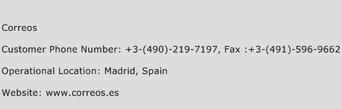 Correos Phone Number Customer Service