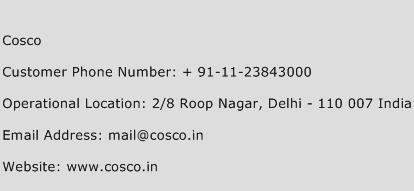 Cosco Phone Number Customer Service