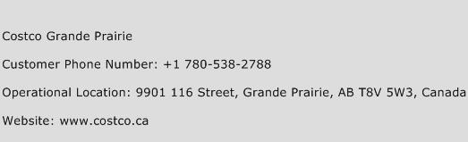 Costco Grande Prairie Phone Number Customer Service