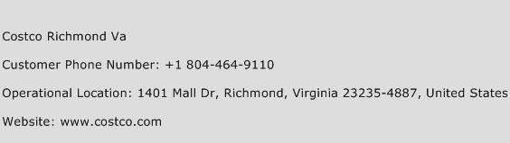 Costco Richmond Va Phone Number Customer Service