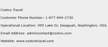 Costco Travel Phone Number Customer Service