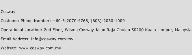 Cosway Phone Number Customer Service