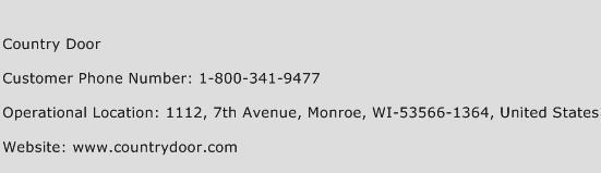 Country Door Phone Number Customer Service