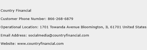 Country Financial Phone Number Customer Service