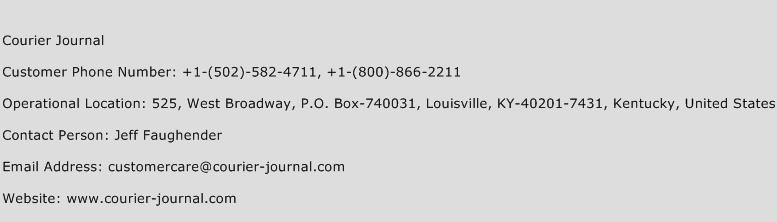 Courier Journal Phone Number Customer Service