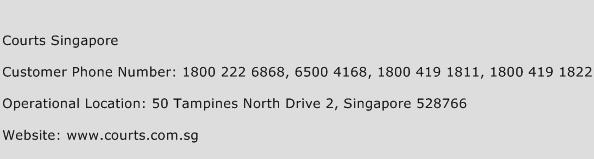 Courts Singapore Phone Number Customer Service
