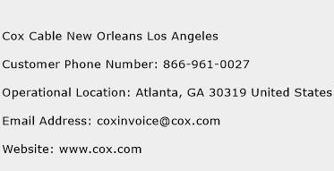 Cox Cable New Orleans Los Angeles Phone Number Customer Service