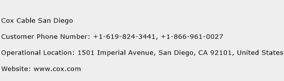 Cox Cable San Diego Phone Number Customer Service