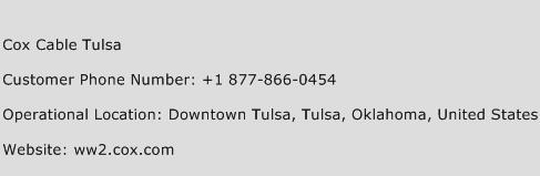 Cox Cable Tulsa Phone Number Customer Service