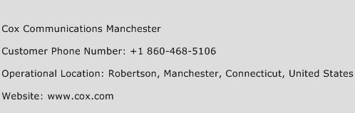 Cox Communications Manchester Phone Number Customer Service
