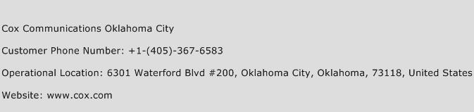 Cox Communications Oklahoma City Phone Number Customer Service