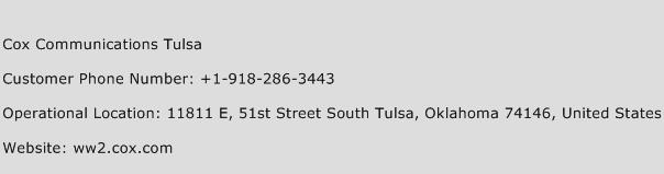 Cox Communications Tulsa Phone Number Customer Service