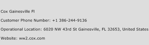 Cox Gainesville Fl Phone Number Customer Service