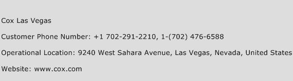 Cox Las Vegas Phone Number Customer Service