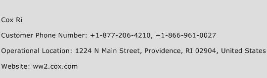 Cox Ri Phone Number Customer Service