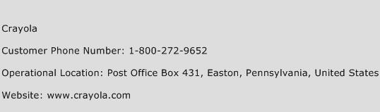 Crayola Phone Number Customer Service