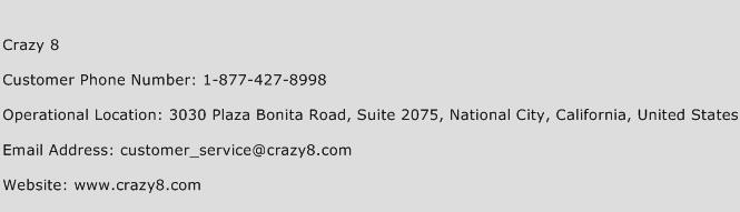 Crazy 8 Phone Number Customer Service