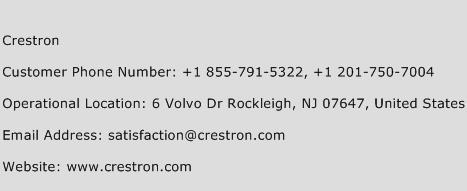 Crestron Phone Number Customer Service