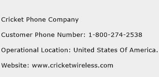 cricket phone customer service