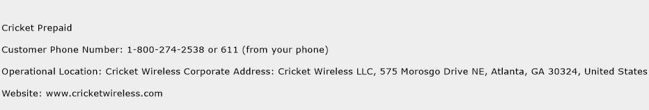 Cricket Prepaid Phone Number Customer Service